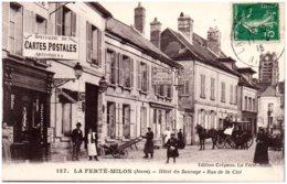02 LA FERTE-MILON - Hotel Du Sauvage - Rue De La Cité - France
