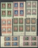 LITAUEN Lithuania 1933 Michel 364 - 371 B In 4-Block MNH Nice Margins! Schöne Ränder ! - Litauen