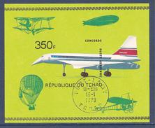 Tchad - Bloc Non Dentelé Oblitéré - Concorde - 1973 - Tschad (1960-...)