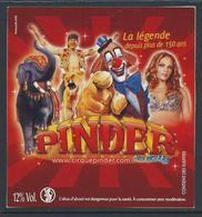 Etiquette CHAMPAGNE Cirque Pinder - Champagne