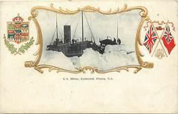 Themes Div-ref AA560- Canada - Bateaux - Bateau Minto , Icebound Pictou Ns - Carte Bon Etat  - - Canada