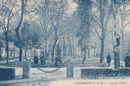 KO 20-(82) CAUSSADE - JARDIN PUBLIC - ENFANTS - 2 SCANS - Caussade