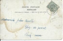 Fantasiekaart Met OCB 53 - Afstempeling TERTRE - COBA 12 - 1893-1907 Armoiries