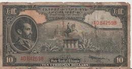 ETHIOPIA P. 14a 10 D 1945  Poor - Ethiopia