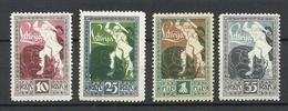 FAUX LETTLAND Latvia 1919 Michel 36 - 39 MNH Fake Forgeries Reprints - Lettland