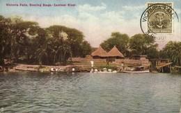 Southern Rhodesia, VICTORIA FALLS, Zambesi River, Baoting Stage (1927) Tuck - Zimbabwe