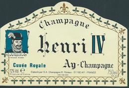 Etiquette CHAMPAGNE Cuvée Royale Henri IV - Champagne