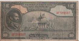 ETHIOPIA P. 14b 10 D 1945  Poor - Ethiopia