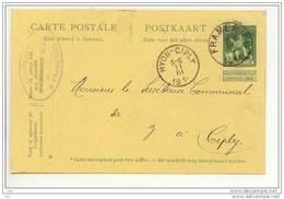 EP De La Compagnie Des Charbonnages De Frameries - Voyagé Vers Hyon  1914 - Cartes Postales [1909-34]