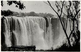 Rhodesia, VICTORIA FALLS, View Of The Main Falls (1940s) RPPC - Zimbabwe