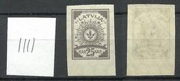 LATVIA Lettland 1919 Michel 20 Senkrecht Geriffeltes Papier/vertically Ribbed Paper MNH - Lettland