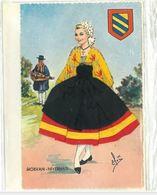 CP Costume Femme Morvan Nivernais (2 Cartes) - Trachten