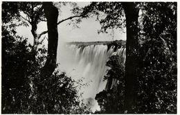 Rhodesia, VICTORIA FALLS, View Of The Eastern Cataract (1940s) RPPC - Zimbabwe