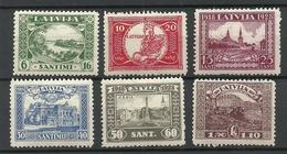 LETTLAND Latvia 1928 Michel 138 - 143 A * - Letland
