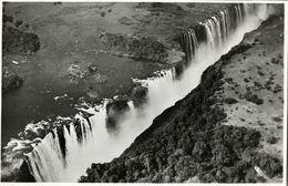 Rhodesia, VICTORIA FALLS, Main Falls And Rainbow Falls From The Air (1940s) RPPC - Zimbabwe