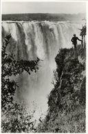 Rhodesia, VICTORIA FALLS, Main Falls Near The Devil's Cataract (1940s) RPPC - Zimbabwe