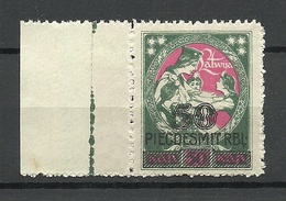 LETTLAND Latvia 1921 Michel 73 MNH With Sheet Margin - Lettonie