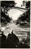 Rhodesia, VICTORIA FALLS, The Bridge And Boiling Pot (1940s) RPPC - Zimbabwe
