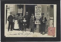 CPA à Identifier Commerce Shop Café  Voir Scan Du Dos - Cafés