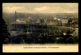 95 - BOISSY-L'AILLERIE - VUE D'ENSEMBLE DES GRANDS MOULINS - CARTE ANCIENNE TOILEE ET COLORISEE - Boissy-l'Aillerie