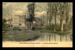 95 - BOISSY-L'AILLERIE -  LES GRANDS MOULINS - LA VIOSNE APRES LE MOULIN  - CARTE ANCIENNE TOILEE ET COLORISEE - Boissy-l'Aillerie