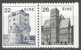 Ireland - 1982 Aughnanure Castle & Cormacs Chapel MNH **  SG 543a & 545a - 1949-... Republic Of Ireland