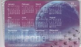 Isle Of Man, MAN 153, 2000 Calendar - The New Millennium, Mint In Blister, 2 Scans. - Isla De Man