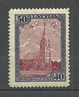 LETTLAND Latvia 1925 Libau Michel 110 A * - Lettonie