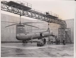 BRISTOL  TURBO POWERED TYPE 192  HELICOPTER  21 * 17  CM Aviation, AIRPLAIN, AVION AIRCRAFT - Aviación