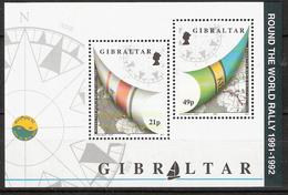 "Gibraltar 1992 Ending The Whitbread Sailing Regatta ""Around The World"" Mi Bloc 17 MNH(**) - Gibraltar"