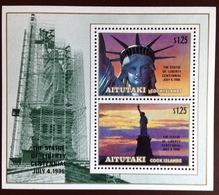 Aitutaki 1986 Statue Of Liberty Minisheet MNH - Aitutaki