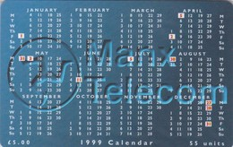 Isle Of Man, MAN 141, £5, 1999 Calendar, Mint In Blister, 2 Scans. - Isla De Man