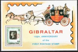 Gibraltar 1990 150 Years Stamps  Mi Bloc 15 , MNH(**) - Gibraltar