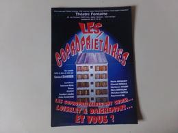 """Affichette Théâtre Fontaine à Paris """" Les Copropriétaires """" - Théatre & Déguisements"""
