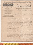 64 PAU  RUE DE LYCEE / RUE SERVIEZ CORRESPONDANCE SPECIALE DES CHEMINS DE FER DU MIDI En 1899 1 CORRESPONDANCE COMMERCIA - France