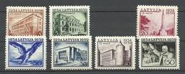LETTLAND Latvia 1939 = 7 Values From Set Michel 271 - 278 * (Mi 273 Is Missing) - Latvia