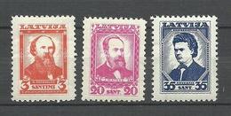 LETTLAND Latvia 1936 = 3 Values From Set Michel 238 - 241 * - Letland
