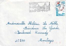 TP  N° 2125 Seul Sur  Enveloppe  De Saumur - Marcophilie (Lettres)