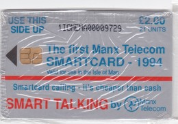 Isle Of Man, MAN 072, 2 £, The First Manx Telecom Smartcard, Mint In Blister, 2 Scans. - Isla De Man