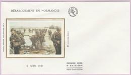Enveloppe FDC (Non Timbrée) - Débarquement En Normandie (6 Juin 1944) (Recto-Verso) - Andere