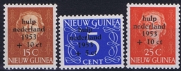 "Nederlands Nieuw Guinea 1953, Surcharge ""Watersnood"", Ongestempeld MH/* - Nuova Guinea Olandese"