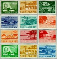 Suriname 1965 Luchtpost NVPH 35-46 Landschappen - MNH/**/Postfris - Suriname ... - 1975