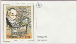 Enveloppe FDC (Non Timbrée) - F. Bienvenue (1852-1936) - Le Métro (Documentation RATP) - Andere