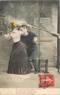 Themes Div-ref AA521- Carte Fantaisie - Couples - Couple  - Sapeur Pompier - Theme Pompier - Carte Bon Etat - - Sapeurs-Pompiers