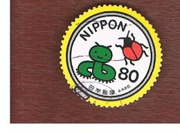 GIAPPONE (JAPAN) - SG 3034   -    2002  LETTER WRITING DAY:  INSECTS  - USED° - 1989-... Kaiser Akihito (Heisei Era)