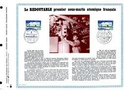 Rare Feuillet PAC (Précurseurs CEF) 1969, N°69-30 - «LE REDOUTABLE» PREMIER SOUS-MARIN ATOMIQUE FRANÇAIS - FDC