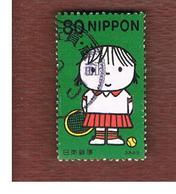 GIAPPONE (JAPAN) - SG 3039   -    2002  LETTER WRITING DAY: TENNIS PLAYER - USED° - 1989-... Keizer Akihito (Heisei-tijdperk)