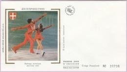 Enveloppe FDC (Non Timbrée) - JO D'Hiver - Patinage Artistique Savoie 1992 (Numérotée 20736) - Andere