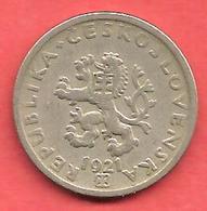 20 Haleru , TCHECOSLOVAQUIE , Cupro-Nickel , 1921 , N° KM # 1 - Tchécoslovaquie