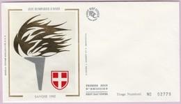 Enveloppe FDC (Non Timbrée) - JO D'Hiver - Savoie 1992 (Numérotée 02779) - Andere